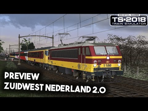 Train Simulator 2018 Zuidwest Nederland preview met nmbs HLE 11 Benlux