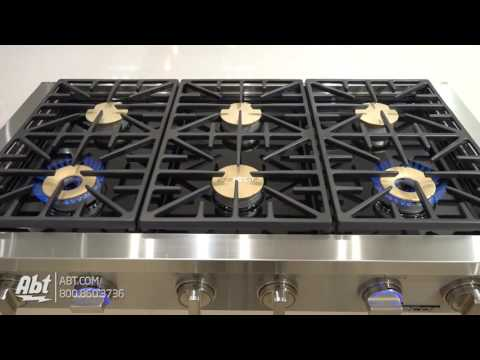 """Dacor Discovery 48"""" Stainless Steel Gas Rangetop DYRTP486S/NG - Overview"""