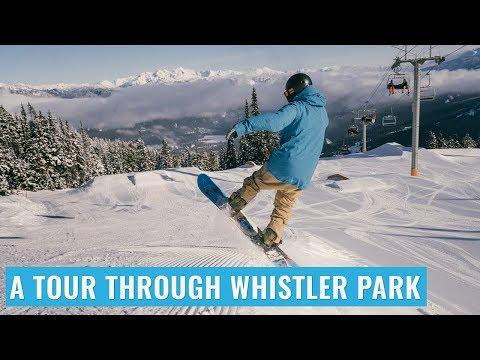 A Tour Through Whistler Terrain Park On A Snowboard