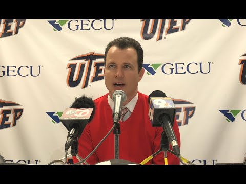 Lobo coach Paul Weir post UTEP loss (11/19/19)