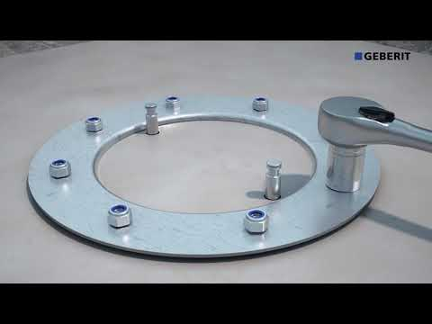 Geberit Pluvia with flange for roof foils on solid roof - Installation