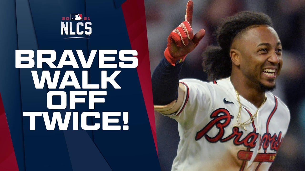 Braves pull off BACK-TO-BACK WALK-OFFS to start NLCS vs. Dodgers!
