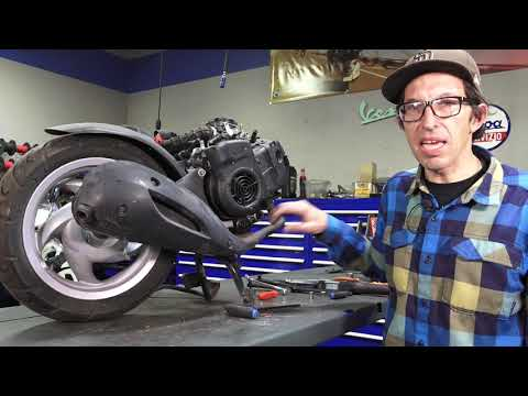 How to Remove & Install an Exhaust on a Vespa LX, ET4, Primavera or Sprint 125-150 Scooter
