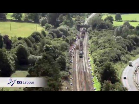 Time lapse video of the track replacement and electrification at Box Tunnel in Bath.