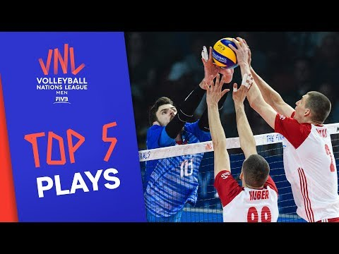 Top 5 Plays of the Semi-Finals! | Volleyball Nations League 2019