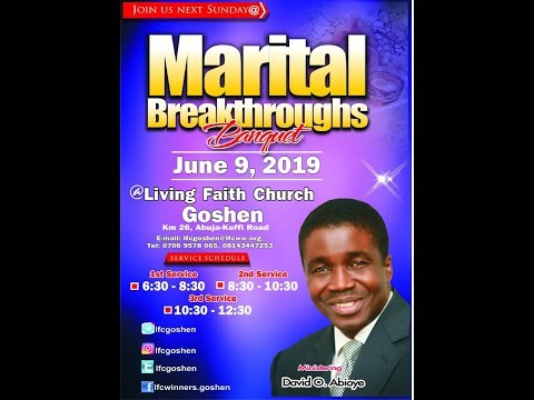 MARITAL BREAKTHROUGH BANQUET.- 1ST SERVICE