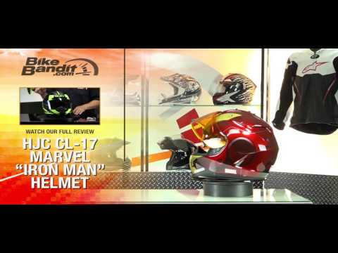 HJC IS-17 Marvel Iron Man Motorcycle Helmet Graphical Overview | BikeBandit.com