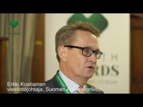 Health Awards 2017 -haastattelu: Erkki Kostiainen
