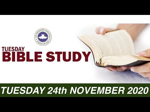 RCCG NOVEMBER 24th 2020 BIBLE STUDY  MAKING YOUR LIFE COUNT
