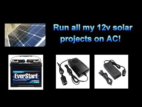 How to use AC power to run all of my 12V DC projects - here's how!  (AC/DC conv)
