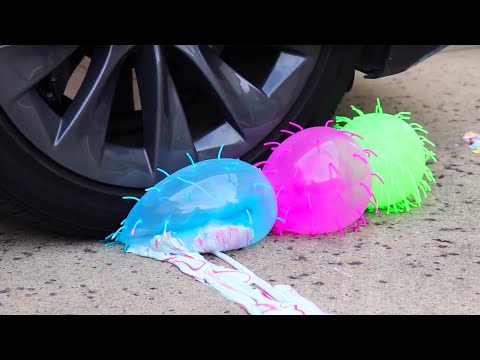 Crushing Satisfying Crunchy & Soft Things With Car - Slime, Orbeez, Squishy