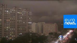 Amazon burning: Sao Paulo's smoke-filled skies make it dark at 2 p.m.