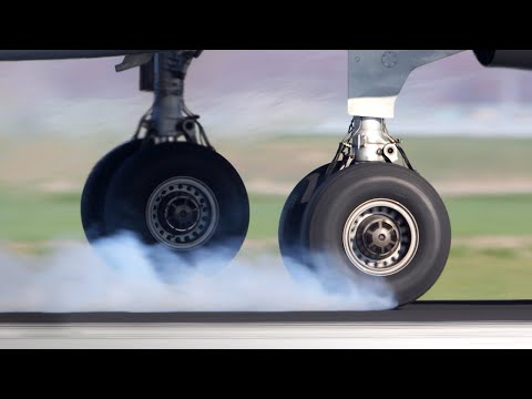 ¿Por qué los neumáticos NO explotan cuando el avión aterriza?