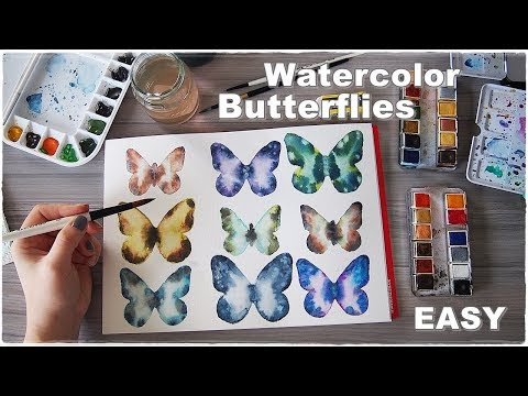 How to Paint A Watercolor Butterfly for Beginners ♡ Maremi's Small Art ♡