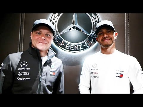 Lewis and Valtteri Rock the Mercedes Me Shanghai Store Opening!