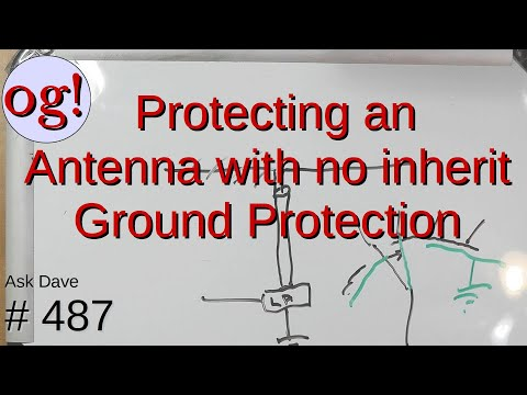 Protecting an Antenna with no inherit Grounding Protection