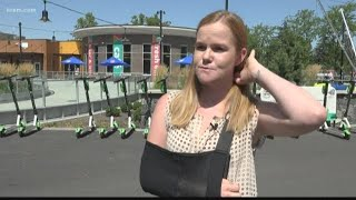 Spokane woman claims Lime scooter brake malfunction led to broken jaw, arm