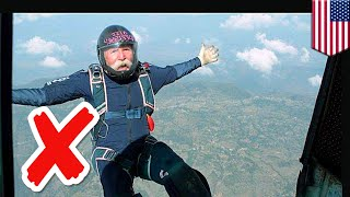 Tech saves skydivers life after he was KNOCKED OUT mid-air - TomoNews
