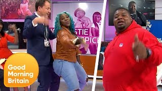 Big Narstie and Spice Get Richard Gaisford to Bump and Grind | Good Morning Britain