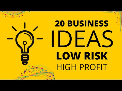20 Business Ideas with LOW Risk and HIGH Profit in 2021