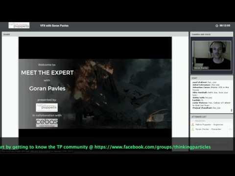 P. 1/4: Goran Pavles Meet the Expert thinkingParticles (AutoJoints): VFX Career