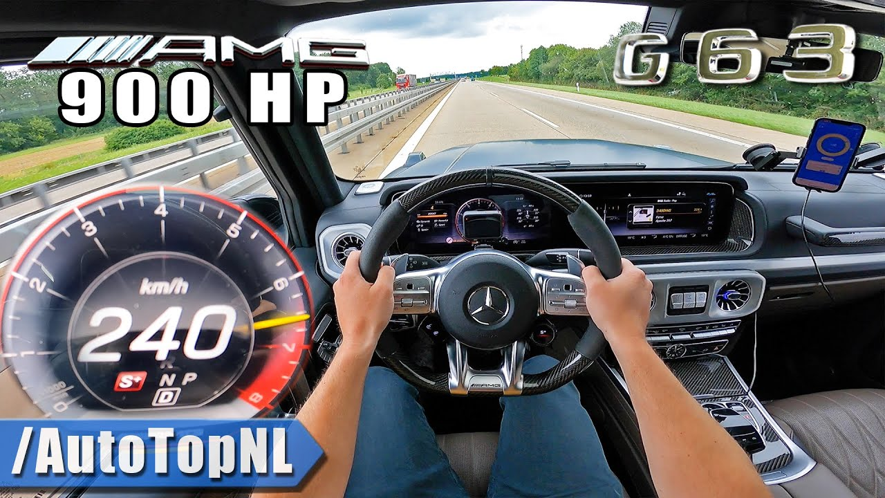 900HP Mercedes-AMG G63 on AUTOBAHN [NO SPEED LIMIT] by AutoTopNL