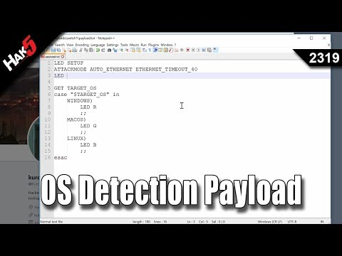 [[ PAYLOAD ]] - OS Detection Payload - Hak5 2319