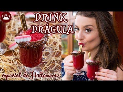 DRINK DRÁCULA DE MORANGO COM BRIGADEIRO! - Halloween - Cozinha do Bom Gosto - Gabi Rossi