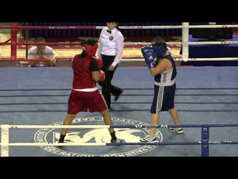 Kazakhstan women's boxing championships 2016, final, 81 kg