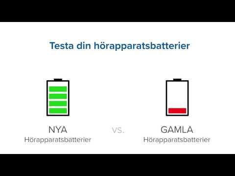 Testa dina hörapparatsbatterier