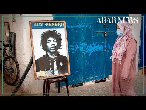 Moroccan village riffs on Jimi Hendrix legends and myths