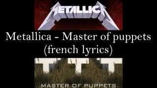 Master of puppets (french lyrics)