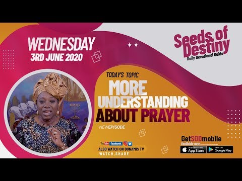 Dr Becky Paul-Enenche - SEEDS OF DESTINY  WEDNESDAY JUNE 3, 2020
