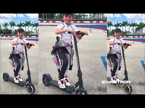 Legendary Racer EMERSON FITTIPALDI tries a SWAGTRON SWAGGER 5 ELITE