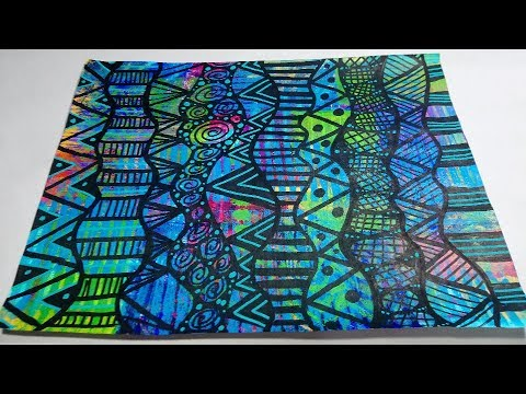 Drawing Doodles on Bright & Colorful Paper with Paint Pens