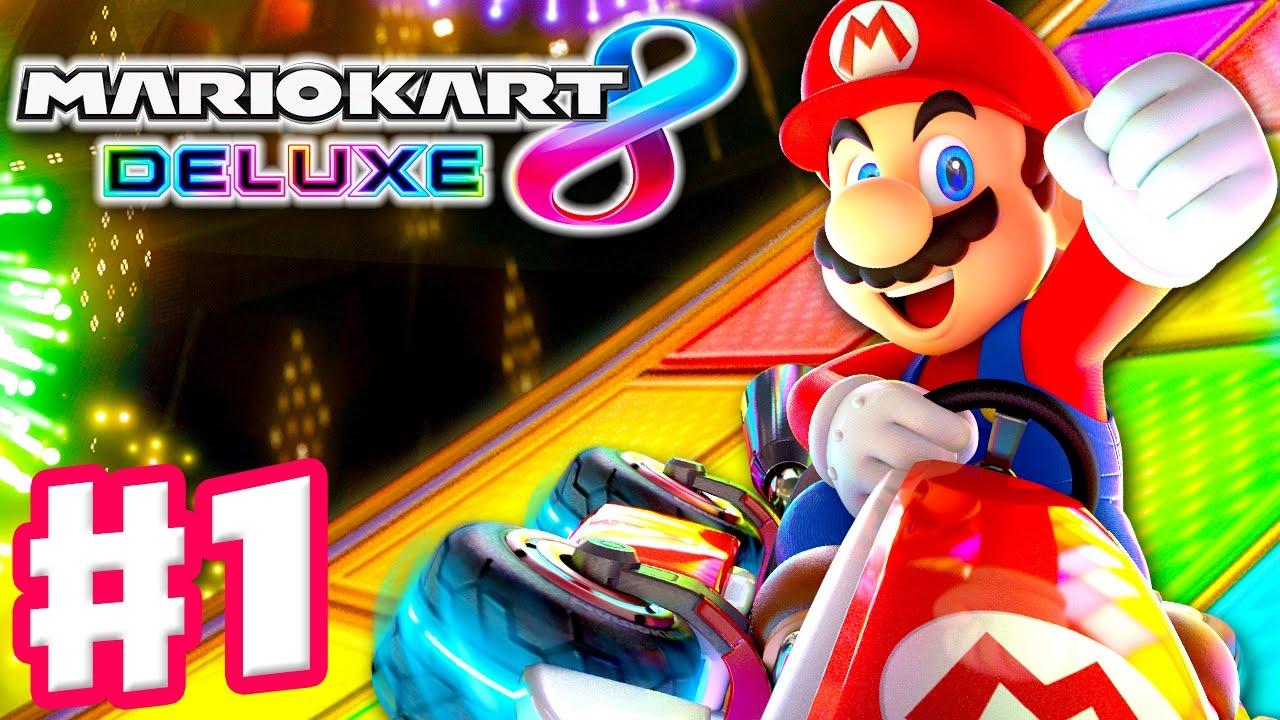 Mario Kart 8 Deluxe Gameplay Walkthrough Part 1 Mushroom Cup