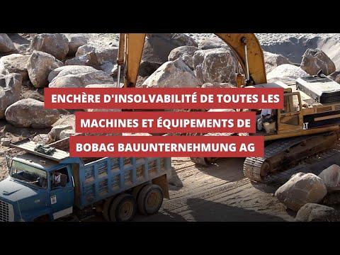 Vente de faillite ! Engins de chantier et inventaireTombereaux, perceuses, outils manuels, etc.