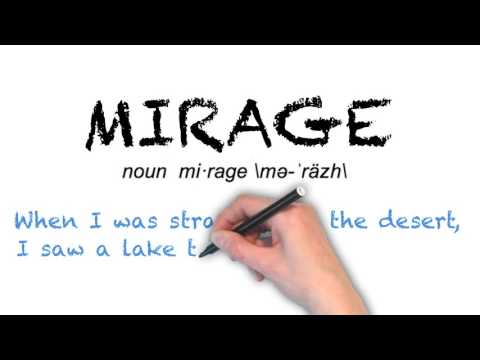 How to Pronounce 'MIRAGE'- English Grammar