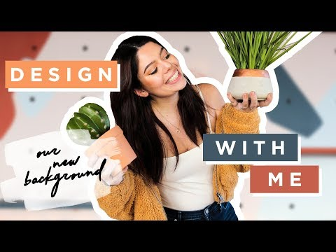 Plan and Design With Me! (we made over our background again!)