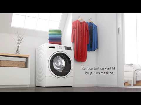 Kombineret vaskemaskine og tørretumbler fra Bosch, perfekt til dig med begrænset plads