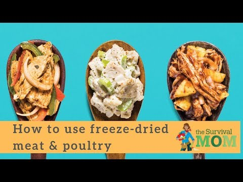 How to use freeze-dried meat and poultry