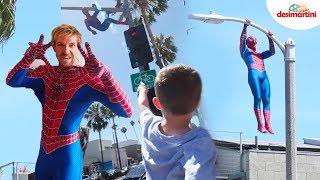 SPIDER MAN HITS THE STREET, Watch Him Perform Some Insane Stunts