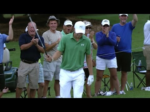 Jordan Spieth's magnificent bunker hole out at the TOUR Championship