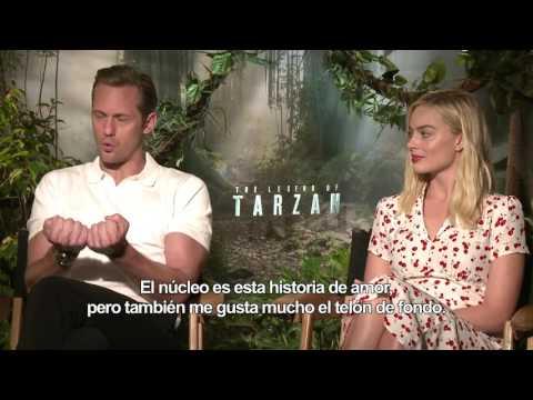 La Leyenda de Tarz�n - Entrevista a Alexander Skarsg�rd y Margot Robbie HD