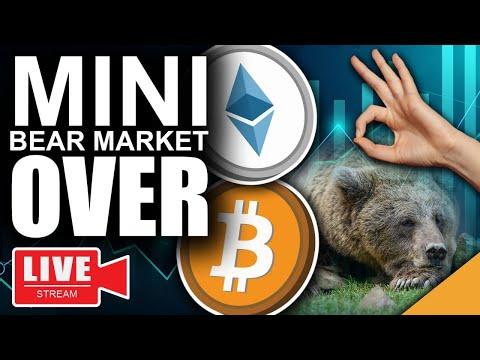 Bitcoin Mini-Bear Market OVER (Latest Scoop on Crypto, Ethereum, ADA)