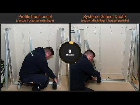Time lapse système Duofix versus ossature métallique classique