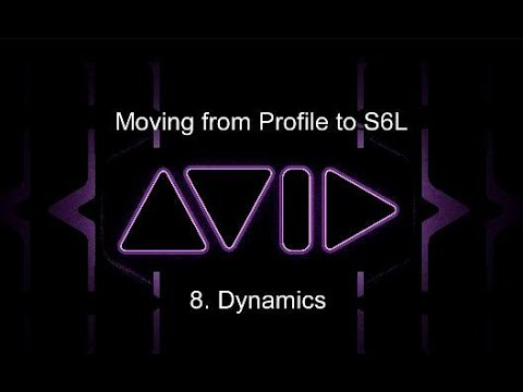 Moving from Profile to S6L:  8. Dynamics