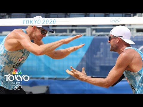 USA's Jake Gibb, Tri Bourne stay perfect in new partnership vs. SUI | Tokyo Olympics | NBC Sports