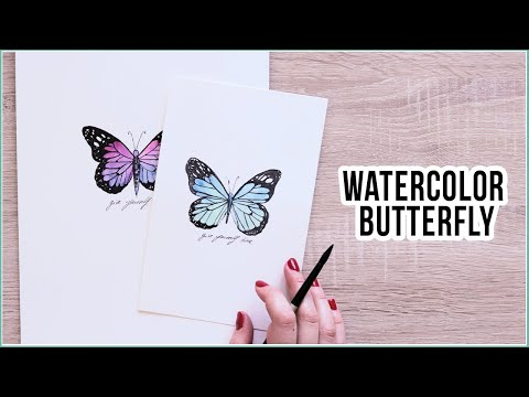 How to Paint a Simple Watercolor Butterfly Step by Step | Creative Saturday Live Painting Session #3