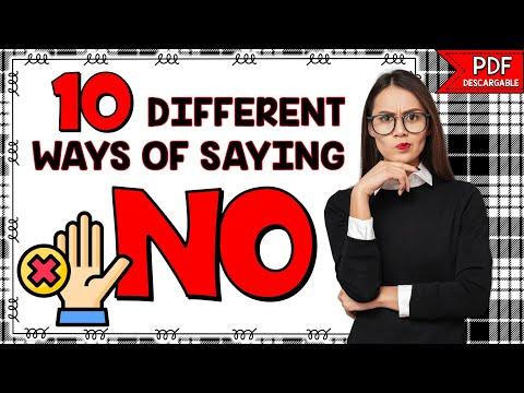 10 DIFERENTES FORMAS DE DECIR NO | FRASES EN INGLÉS PARA CONVERSACIÓN | CONVERSATION EXPRESSIONS